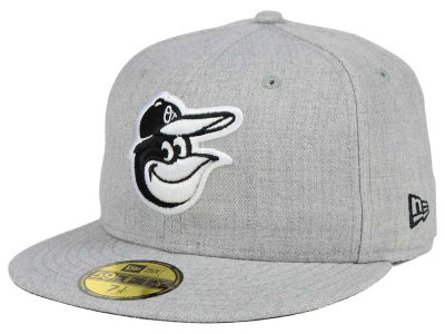 Baltimore Orioles MLB Heather Black White 59FIFTY Cap Hats