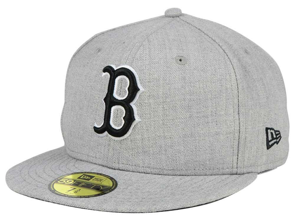6f6cdd3822c Boston Red Sox New Era MLB Heather Black White 59FIFTY Cap 30%OFF ...