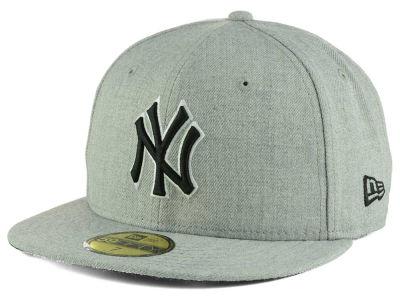 New York Yankees MLB Heather Black White 59FIFTY Cap Hats