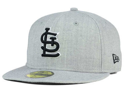 St. Louis Cardinals MLB Heather Black White 59FIFTY Cap Hats