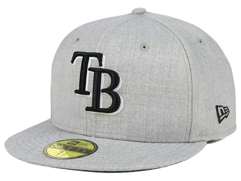 low priced ee7ab 7a7c3 ... reduced tampa bay rays new era mlb heather black white 59fifty cap  outlet lf.lids