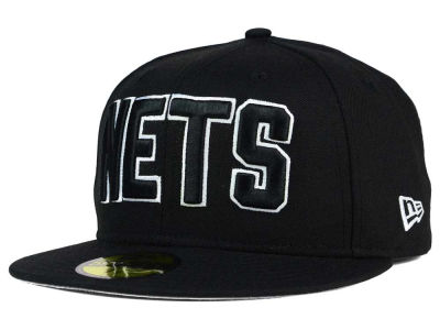 New Jersey Nets NBA HWC Black White 59FIFTY Cap Hats