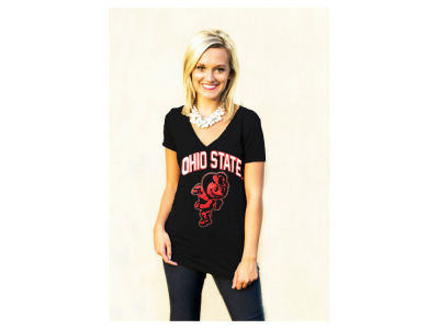 Gameday Couture NCAA Women's Mesh Foil Brutus V-Neck T-Shirt