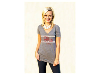 Gameday Couture NCAA Women's Script Ohio V-Neck T-Shirt