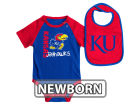 Kansas Jayhawks Colosseum NCAA Newborn Rookie Onesie & Bib Set Infant Apparel