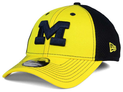 Michigan Wolverines NCAA Team Front Neo 39THIRTY Cap Hats