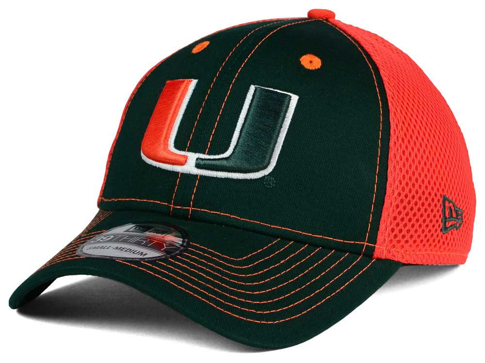 buy online 64257 36f5b ... discount durable service miami hurricanes new era ncaa team front neo  39thirty cap 3aa23 90605