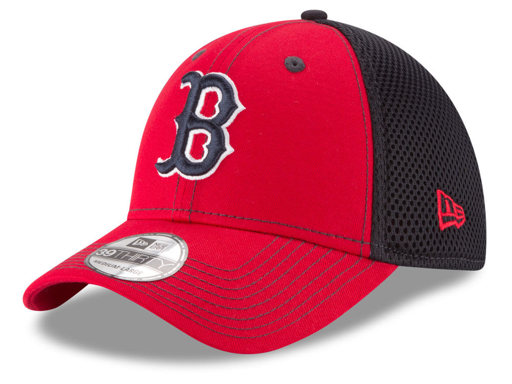 975838805 Boston Red Sox New Era MLB Team Front Neo 39THIRTY Cap well-wreapped ...