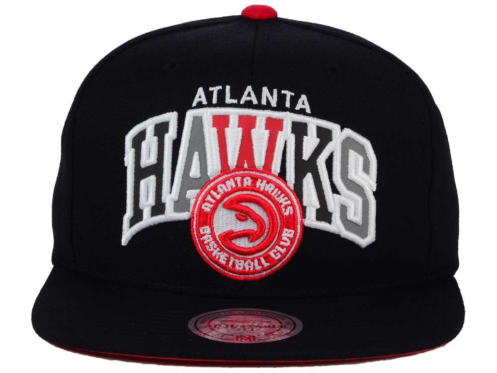 sports shoes c9f9f 1ee2a durable modeling Atlanta Hawks Mitchell and Ness NBA Reflective Tri Pop  Snapback Cap