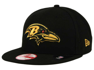 Baltimore Ravens NFL Black Metallic Gold 9FIFTY Snapback Cap Hats