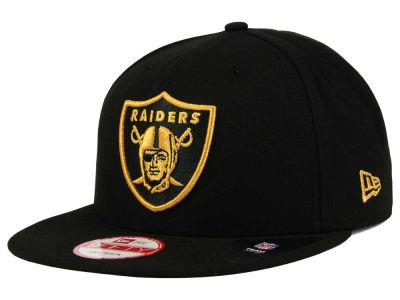 Oakland Raiders New Era Nfl Black Metallic Gold 9fifty