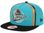 Detroit Pistons New Era NBA Logo Mural Snap 9FIFTY Cap Adjustable Hats