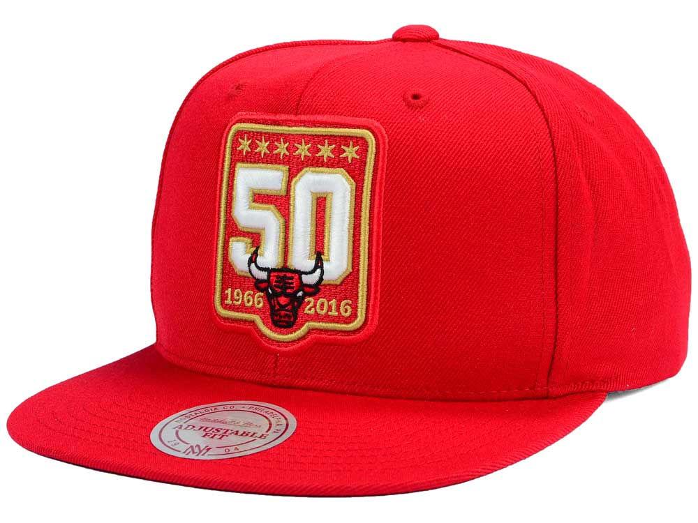 big sale f8c52 00bb5 ... ireland chicago bulls mitchell and ness nba 50th anniversary snapback  hat high quality 2ec9a bcbf5