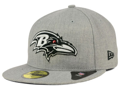 Baltimore Ravens NFL Heather Black White 59FIFTY Cap Hats