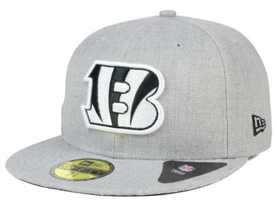 Cincinnati Bengals NFL Heather Black White 59FIFTY Cap Hats