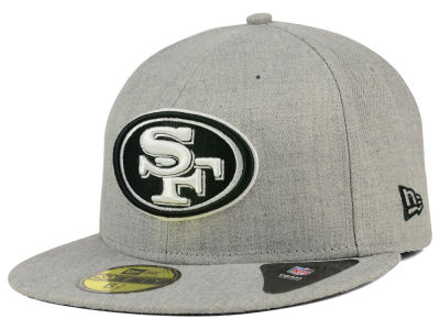 San Francisco 49ers NFL Heather Black White 59FIFTY Cap Hats