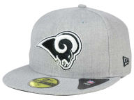 New Era NFL Heather Black White 59FIFTY Cap Fitted Hats