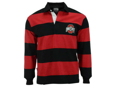 NCAA Men's Casual Stripe Rugby Long Sleeve T-Shirt