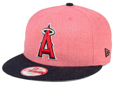 Los Angeles Angels MLB Heather Action 9FIFTY Snapback Cap Hats