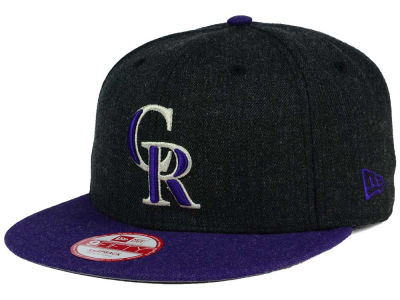 Colorado Rockies MLB Heather Action 9FIFTY Snapback Cap Hats