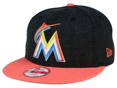 Miami Marlins MLB Heather Action 9FIFTY Snapback Cap Hats