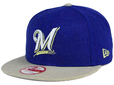 Milwaukee Brewers MLB Heather Action 9FIFTY Snapback Cap Hats