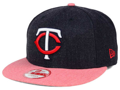 Minnesota Twins MLB Heather Action 9FIFTY Snapback Cap Hats