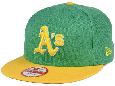 Oakland Athletics MLB Heather Action 9FIFTY Snapback Cap Hats