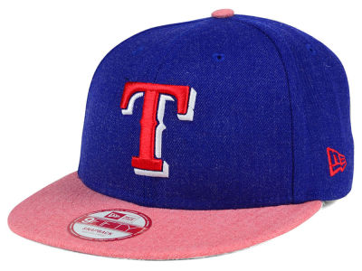 Texas Rangers MLB Heather Action 9FIFTY Snapback Cap Hats