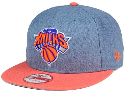 New York Knicks NBA HWC Heather Action 9FIFTY Snapback Cap Hats