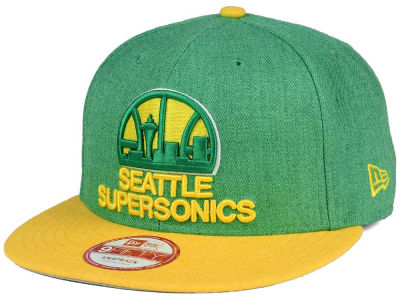 Seattle SuperSonics NBA HWC Heather Action 9FIFTY Snapback Cap Hats