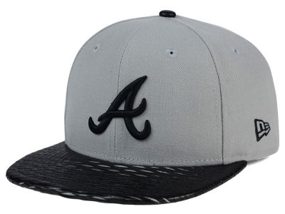 Atlanta Braves MLB Leather RIP 9FIFTY Snapback Cap Hats