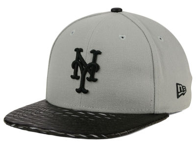 New York Mets MLB Leather RIP 9FIFTY Snapback Cap Hats