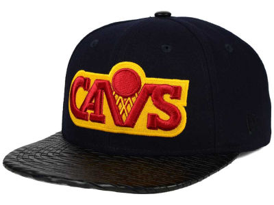 Cleveland Cavaliers NBA HWC Leather Rip 9FIFTY Snapback Cap Hats