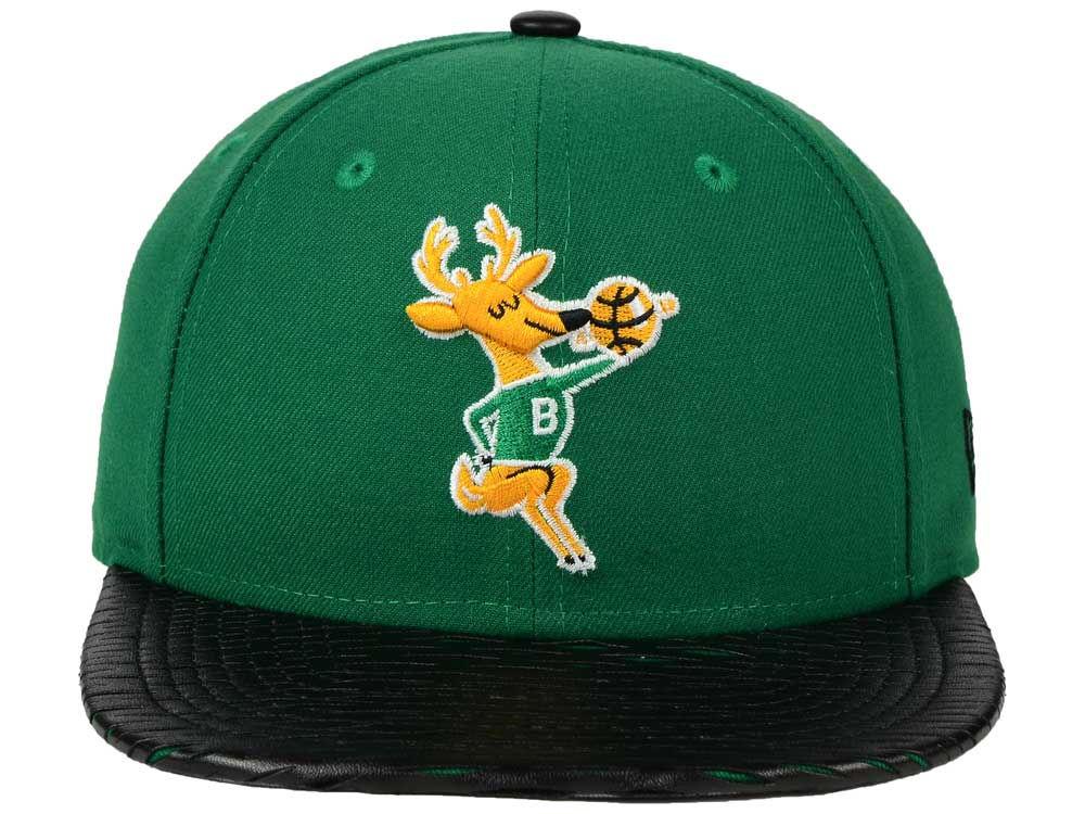 more photos 50e32 25794 good Milwaukee Bucks New Era NBA HWC Leather Rip 9FIFTY Snapback Cap