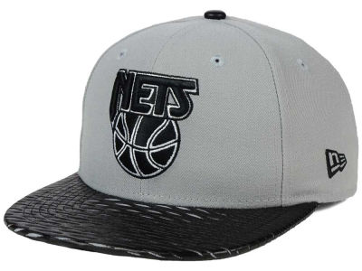 New Jersey Nets NBA HWC Leather Rip 9FIFTY Snapback Cap Hats