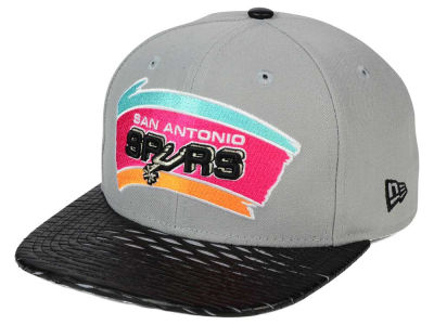 San Antonio Spurs NBA HWC Leather Rip 9FIFTY Snapback Cap Hats