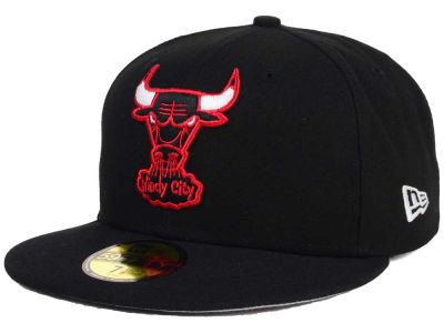 Chicago Bulls NBA HWC Flag Stated 59FIFTY Cap Hats