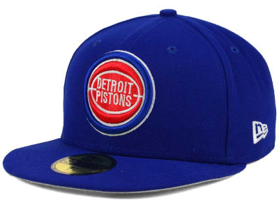 Detroit Pistons NBA HWC Flag Stated 59FIFTY Cap Hats