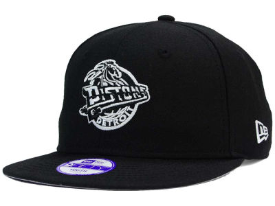 Detroit Pistons NBA HWC Youth Black White 9FIFTY Snapback Cap Hats