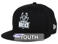 New Era NBA HWC Youth Black White 9FIFTY Snapback Cap Adjustable Hats