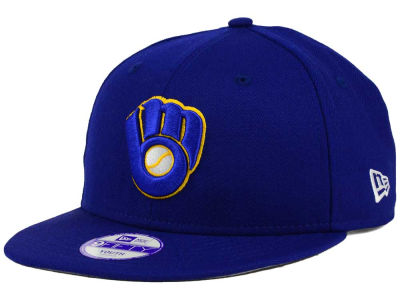 Milwaukee Brewers MLB Youth Major Wool 9FIFTY Snapback Cap Hats