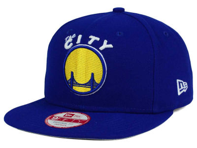 Golden State Warriors NBA Flag Stated 9FIFTY Snapback Cap Hats