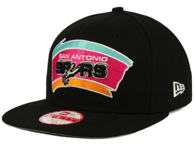 San Antonio Spurs NBA Flag Stated 9FIFTY Snapback Cap Hats