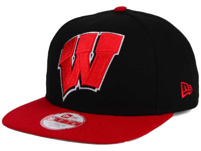 Wisconsin Badgers NCAA Logo Grand Redux 9FIFTY Snapback Cap Hats