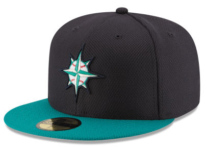 Seattle Mariners MLB 2016 Diamond Era 59FIFTY Training Cap Hats
