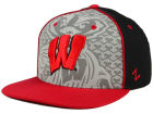 Wisconsin Badgers Top of the World NCAA Reflector Snapback Cap Adjustable Hats