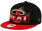 Miami Heat New Era NBA HWC Metallic Grader 9FIFTY Snapback Cap Adjustable Hats