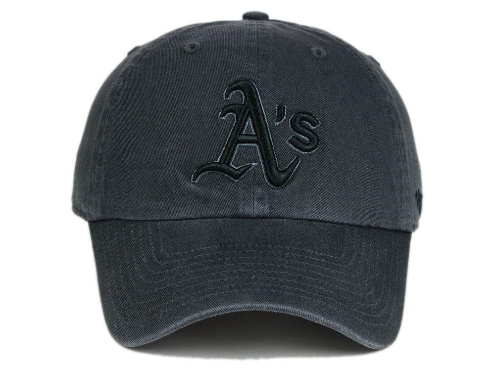 buy popular 1a736 0536d hot sale Oakland Athletics  47 MLB Charcoal Black  47 CLEAN UP Cap