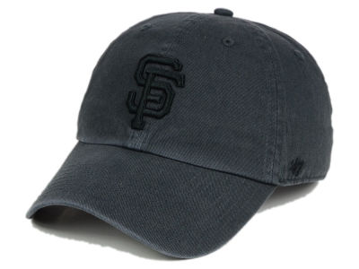 bddaf6a8034 San Francisco Giants  47 MLB Charcoal Black  47 CLEAN UP Cap